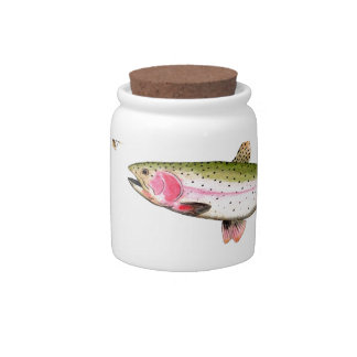 Rainbow Trout Fly Fishing Candy Jar