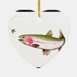 Rainbow Trout Fly Fishing Ceramic Ornament