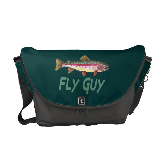 Rainbow Trout Fly FIshing Courier Bag