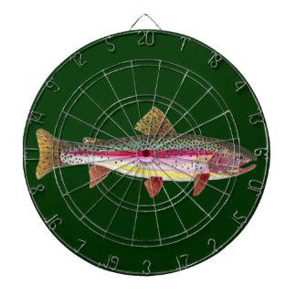 Rainbow Trout Fly Fishing Dart Board
