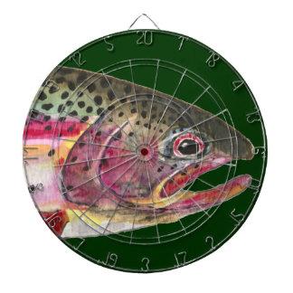 Rainbow Trout Fly Fishing Dartboard