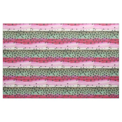 Rainbow Trout Fly Fishing Fabric
