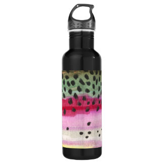Rainbow Trout Fly Fishing, Fisherman's Stainless Steel Water Bottle