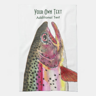 Rainbow Trout Fly Fishing, Ichthyology Towel