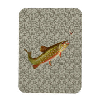 Rainbow trout fly fishing magnet