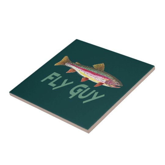 Rainbow Trout Fly Fishing Tile
