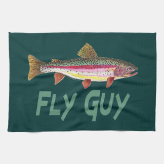 Rainbow Trout Fly FIshing Towel