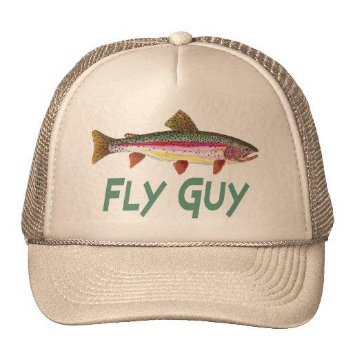 Rainbow trout fly fishing trucker hat zazzle for Fly fishing trucker hat