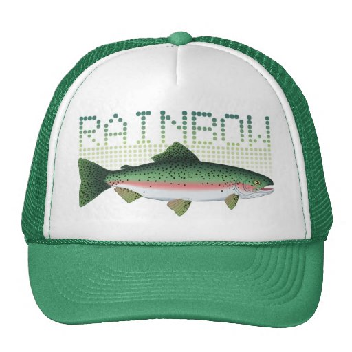 Rainbow trout gift for an angler or fisherman trucker hats