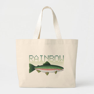Rainbow trout gift for an angler or fisherman large tote bag