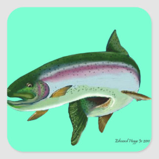 Rainbow Trout II Square Sticker