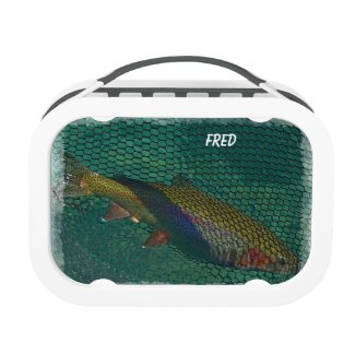 Rainbow Trout in the Net Yubo Lunch Boxes
