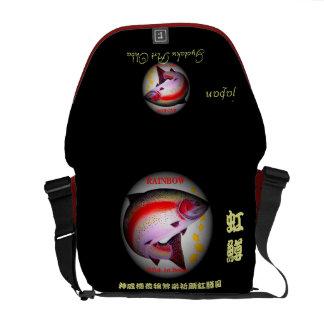 Rainbow trout! JAPAN God dignity tower Yutaka 穣 Messenger Bag