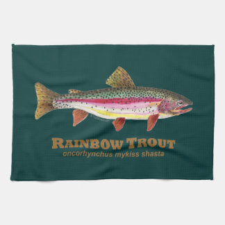 Rainbow Trout Latin Hand Towel