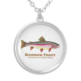 Rainbow Trout Latin Silver Plated Necklace