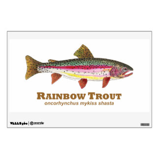 Rainbow Trout, Latin Wall Decal