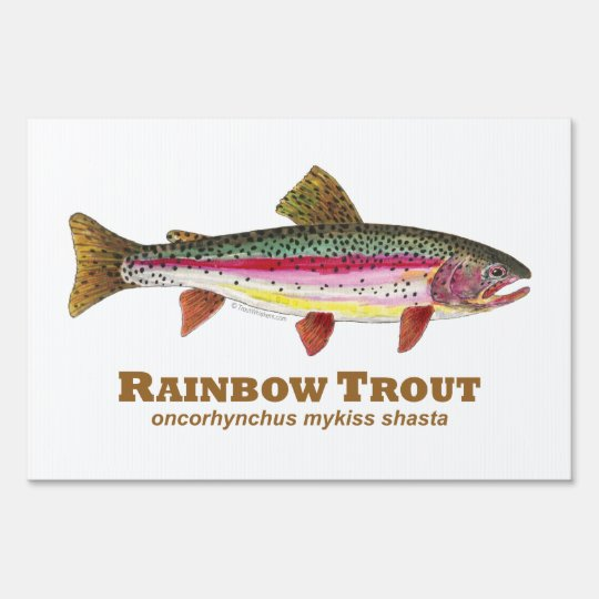 Rainbow Trout Lawn Sign