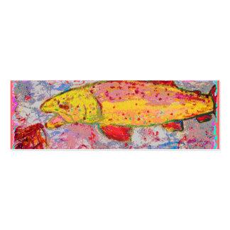 rainbow trout mini business card