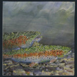 "Rainbow trout napkin<br><div class=""desc"">painting rainbow trout</div>"