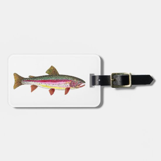 Rainbow Trout Painting Bag Tag