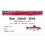 Rainbow Trout Painting Double-Sided Standard Business Cards (Pack Of 100)