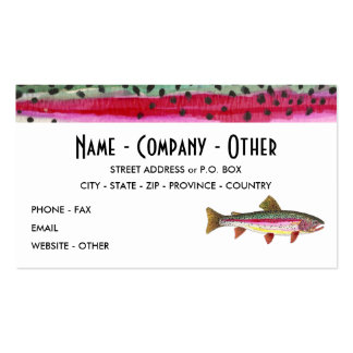 Rainbow Trout Painting Business Card Templates