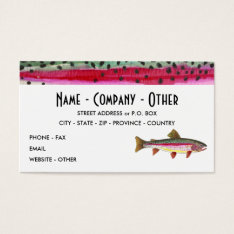 Rainbow Trout Painting Business Card at Zazzle