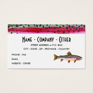Rainbow Trout Painting Business Card