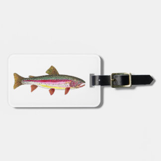 Rainbow Trout Painting Travel Bag Tag
