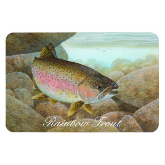 Rainbow Trout Painting Rectangle Magnets