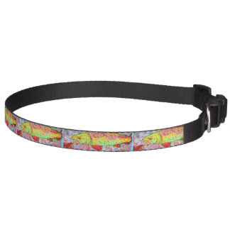 rainbow trout pet collar