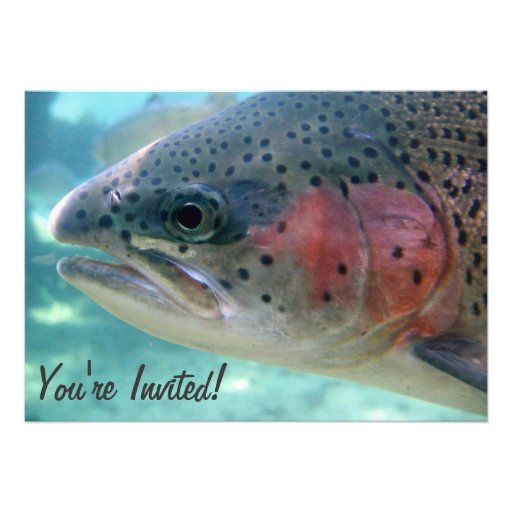 Rainbow Trout Retirement Party Invitation
