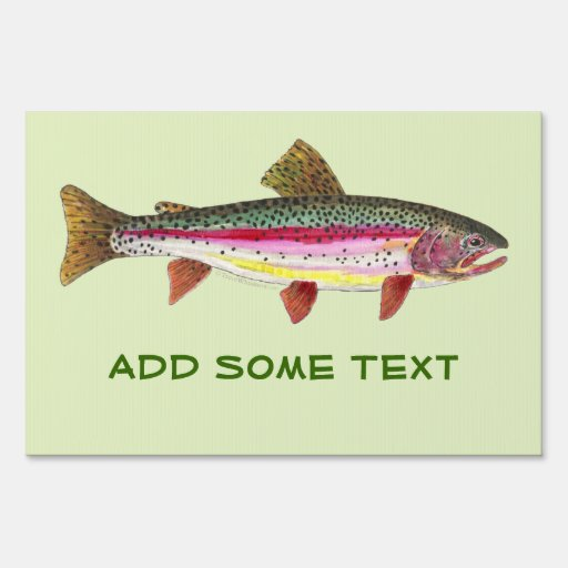 Rainbow Trout Signs