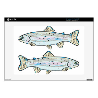 """Rainbow Trout Sketch 15"""" Laptop Decal"""
