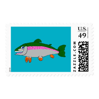 Rainbow trout stationery postage