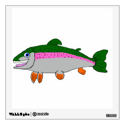Rainbow trout stationery wall decal