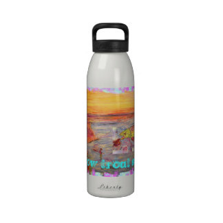 rainbow trout sunset water bottles