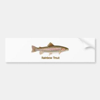 Rainbow Trout (titled) Car Bumper Sticker