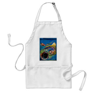 Rainbow Trout Tracking a Fishing Lure Apron