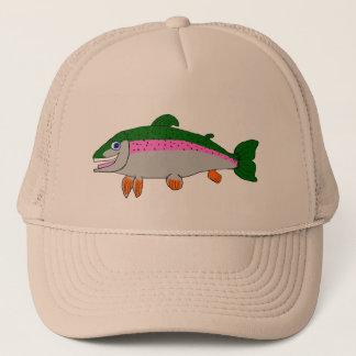 Rainbow trout trucker hat