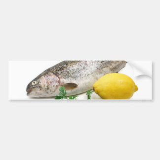 rainbow trout with lemon and parsley bumper sticker