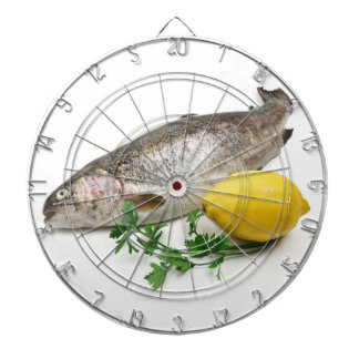 rainbow trout with lemon and parsley dartboards