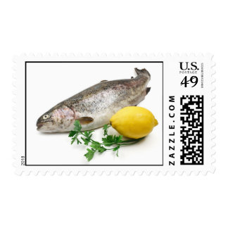 rainbow trout with lemon and parsley postage