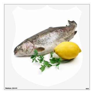 rainbow trout with lemon and parsley wall decal