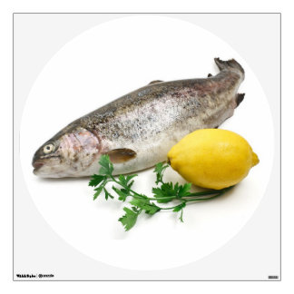 rainbow trout with lemon and parsley wall sticker
