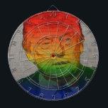 "Rainbow Trump Dartboard With Darts<br><div class=""desc"">Gay Donald Trump</div>"