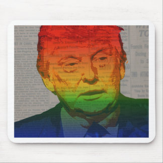 Rainbow Trump Mouse Pad