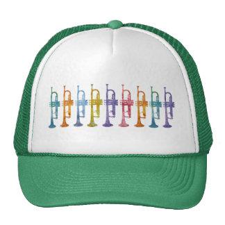 Rainbow Trumpets Trucker Hat