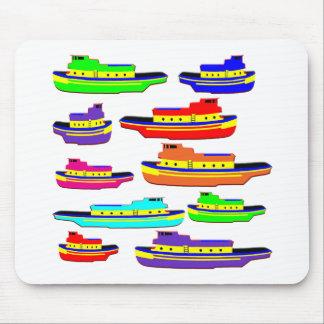 rainbow tugs mouse pad