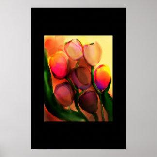 rainbow tulips poster